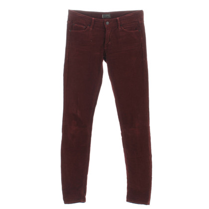 Mother Corduroy broek in rood