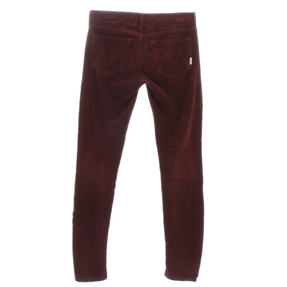 Mother Corduroy pants in red