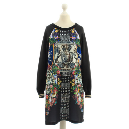 Clover Canyon Sweater dress black with print