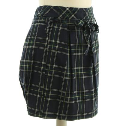 Patrizia Pepe Plaid mini skirt with belt loops