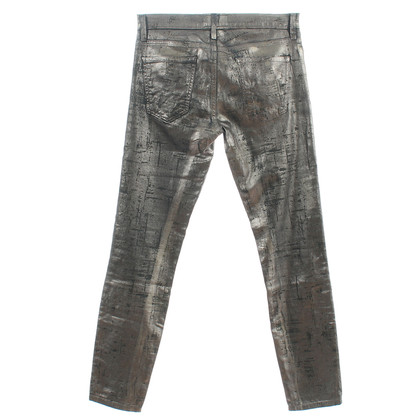 "Current Elliott Jeans ""The Stiletto"" silver coated foil"