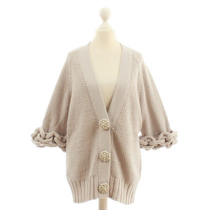 Fendi Strickjacke mit Applikationen