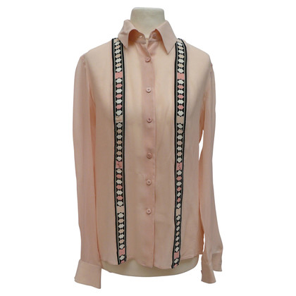 Emilio Pucci Silk blouse with sewn trim