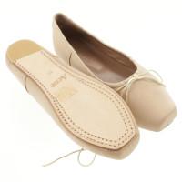 Acne Nudefarbene lace shoes