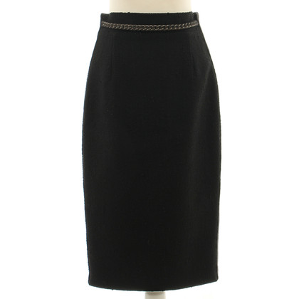 Giambattista Valli Black wool skirt