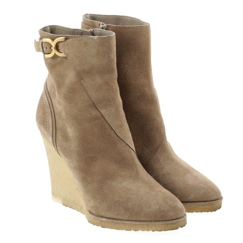 chlo 233 ankle boots with wedge heel buy second chlo 233