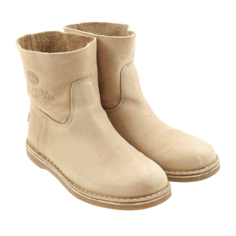 shabbies amsterdam boots in beige buy second hand