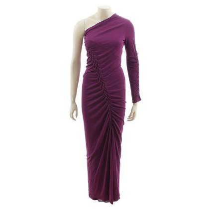Jean Paul Gaultier Een schouder jurk in paars