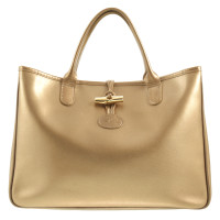 Longchamp 'Roseau' shoulder bag in gold