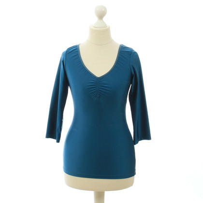 Acne Top stretch in teal blue