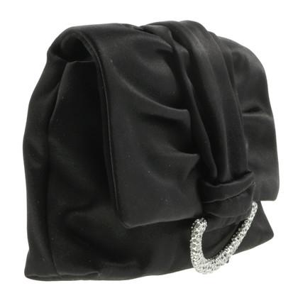 Christian Dior Clutch with rhinestone buckle