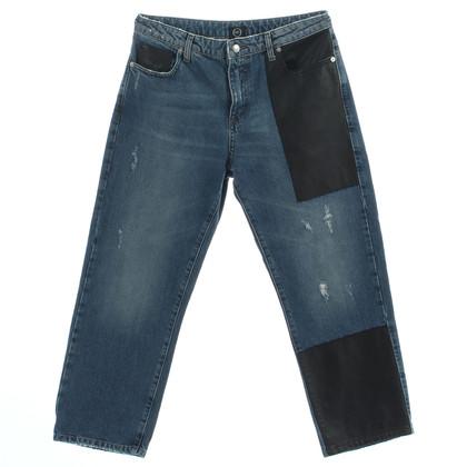 Alexander McQueen Jeans met leder