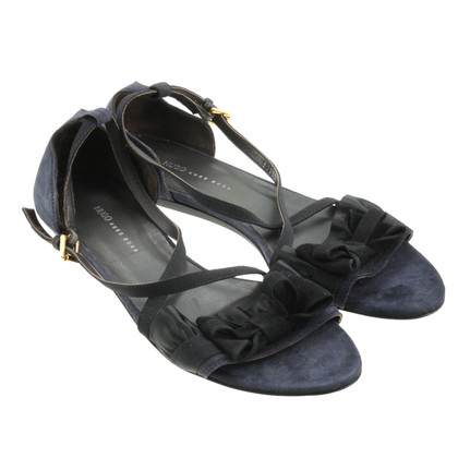 Hugo Boss Dark Blue Suede sandal