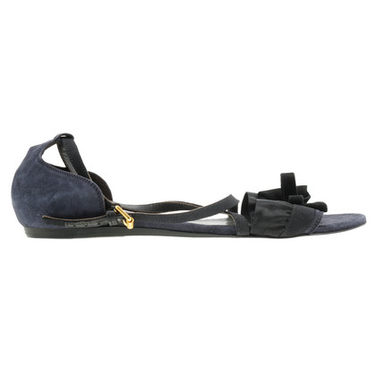 Hugo Boss Dark Blue Suede sandaal