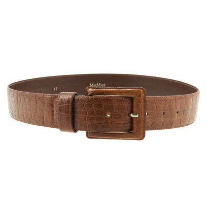 Max Mara Brown belt with embossed