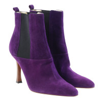 Dolce & Gabbana Suede Ankle Boots purple