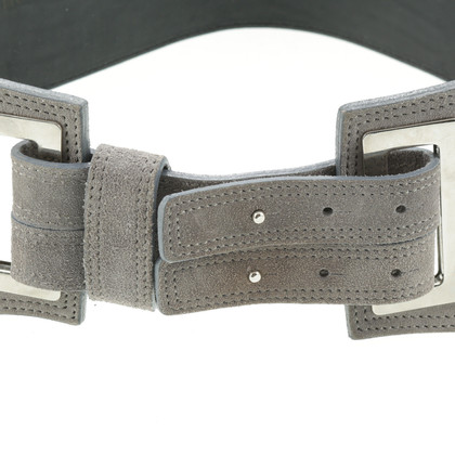 Max Mara Waist belt with reptile embossing