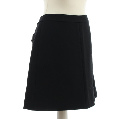 Miu Miu Black wool skirt