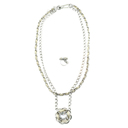 D&G Chain and ring with Rhinestone
