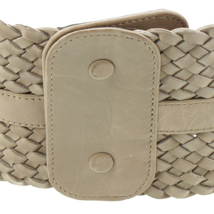 Jil Sander Braided belt in beige
