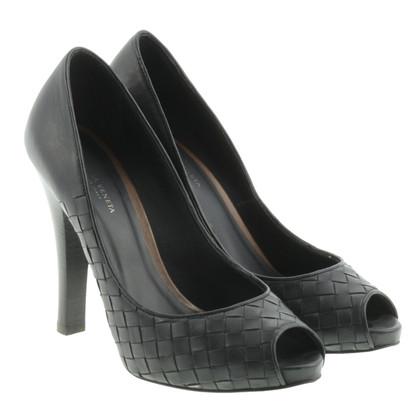 Bottega Veneta Gluren-tenen in het rieten-look
