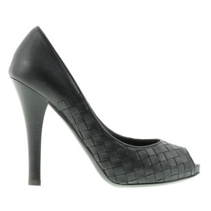 Bottega Veneta Peeptoes im Flecht-Look