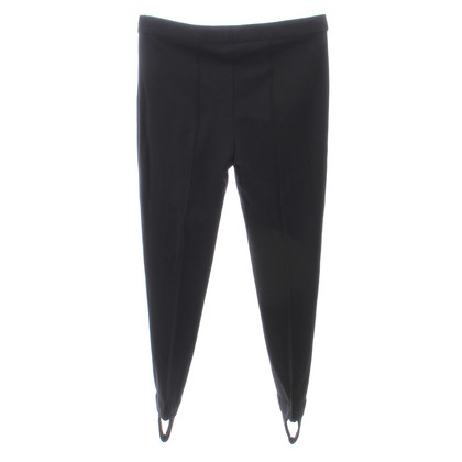 Moschino Black trousers with bridge