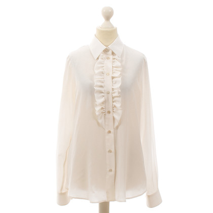 Moschino Silk blouse with Ruffles