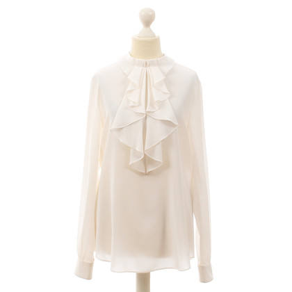 Moschino Silk blouse with flounces