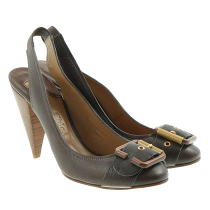 Chloé Sling-Pumps Brown