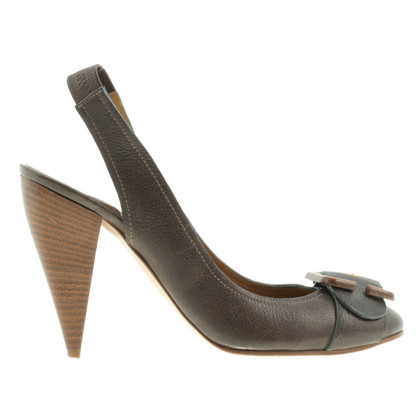 Chloé Sling-Pumps in Braun