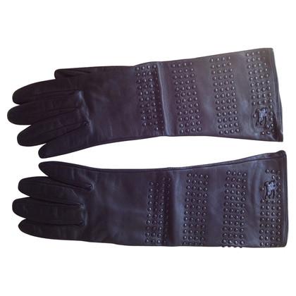 Burberry Lederen handschoenen