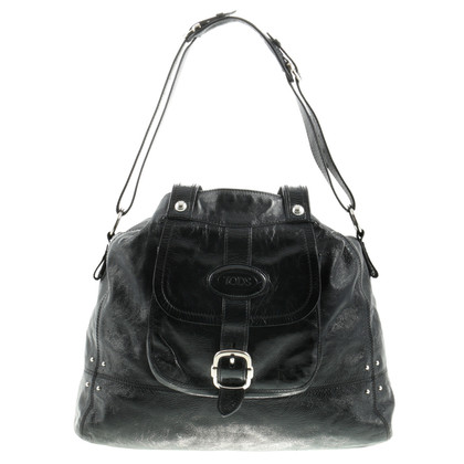 Tod's Lacquer bag with rivets