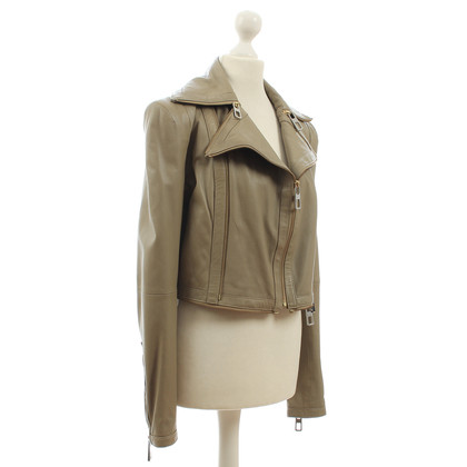 By Malene Birger Leather jacket with zippers