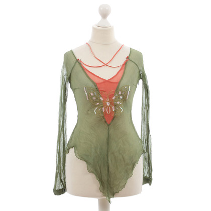 Costume National Top met vlinder motief