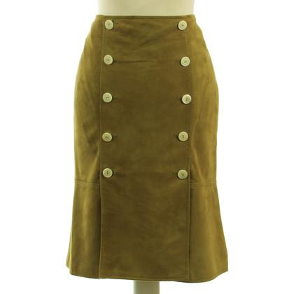 Valentino skirt lamb leather