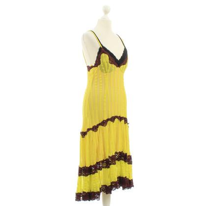 Jean Paul Gaultier Gele jurk met kant