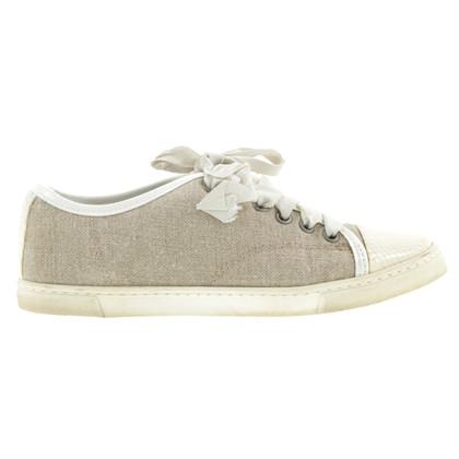Lanvin Canvas Sneaker in Beige