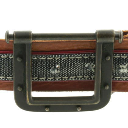 Hugo Boss Leather belt with canvas