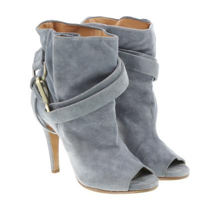 Maison Martin Margiela Pigeon blue-gray Peeptoe ankle boots