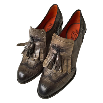 Santoni Trotteur Pumps with fringes and morons