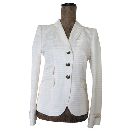 Gucci White waisted jacket