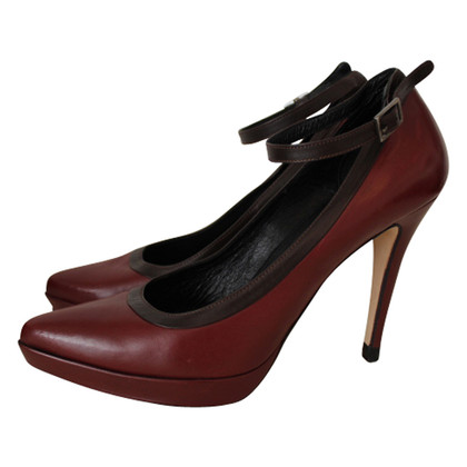 Strenesse Lace strappy pumps in Bordeaux