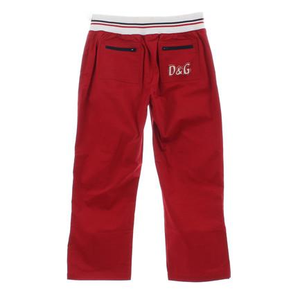 D&G 7/8 broek in het rood