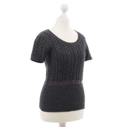 Louis Vuitton Grauer Kurzarm-Pullover