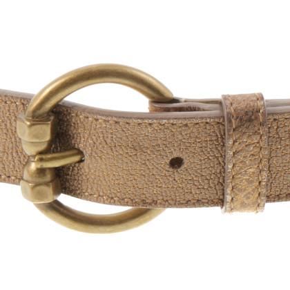 Bottega Veneta Cintura d'oro con motivo di vimini