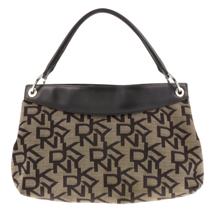 DKNY Borsa con logo in marrone