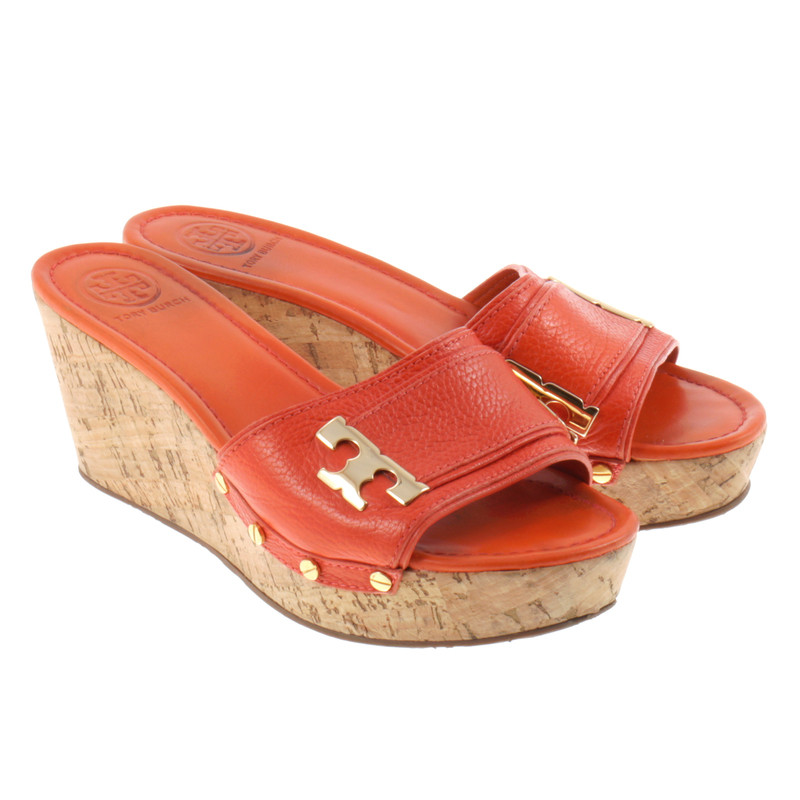 Tory Burch Wedges Orange