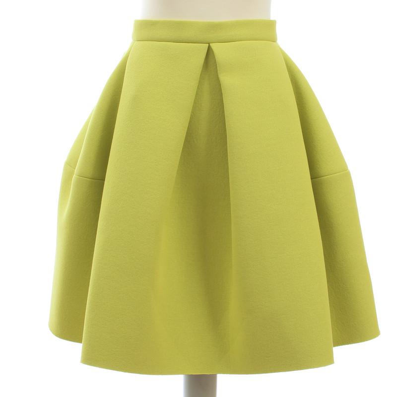 Kenzo Balloon skirt in lime green