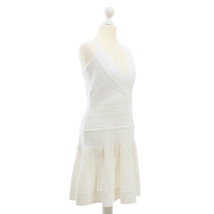 Herve Leger Bodycon dress in white